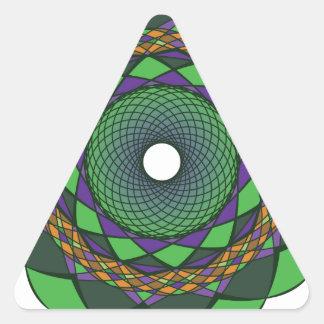 Ornamentos 3 de la circular pegatina triangular