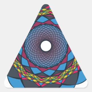 Ornamentos 4 de la circular pegatina triangular