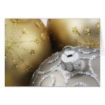 Ornamentos 4 del navidad tarjetas