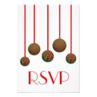 Ornamentos adaptables de Navidad del leopardo y de Invitacion Personalizada