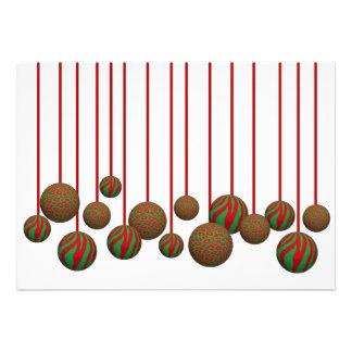 Ornamentos adaptables de Navidad del leopardo y de Invitacion Personal