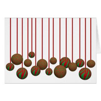 Ornamentos adaptables de Navidad del leopardo y de Felicitación