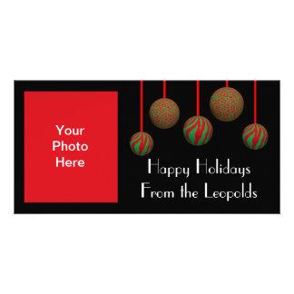 Ornamentos adaptables de Navidad del leopardo y de Tarjetas Personales Con Fotos