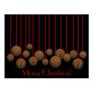 Ornamentos adaptables de Navidad del leopardo y de Tarjeta Postal