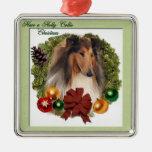 Ornamentos ásperos de los regalos del navidad del  adornos de navidad