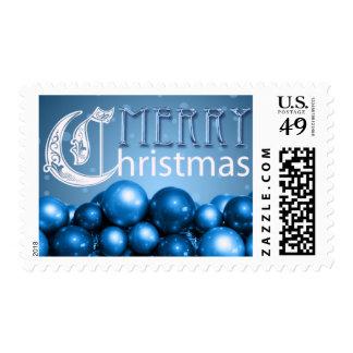 Ornamentos azules del navidad de los sellos del na