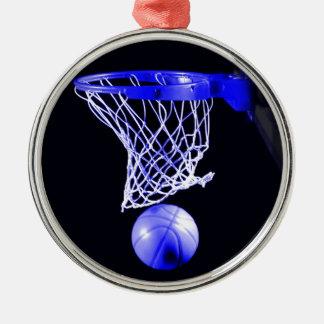 Ornamentos azules del navidad del baloncesto adornos de navidad