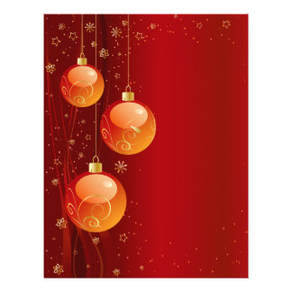 Ornamentos brillantes del navidad flyer personalizado