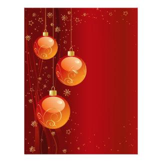 """Ornamentos brillantes del navidad folleto 8.5"""" x 11"""""""