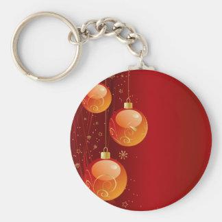 Ornamentos brillantes del navidad llavero redondo tipo pin