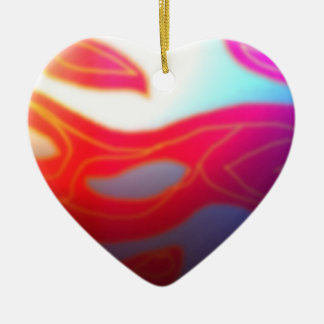 Ornamentos brumosos de los >Christmas del corazón Adorno Navideño De Cerámica En Forma De Corazón
