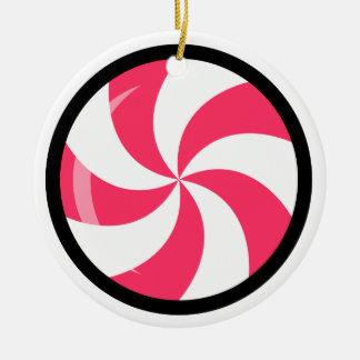 """Ornamentos """"caramelo de Navidad de Andy Awesome® Adorno Navideño Redondo De Cerámica"""