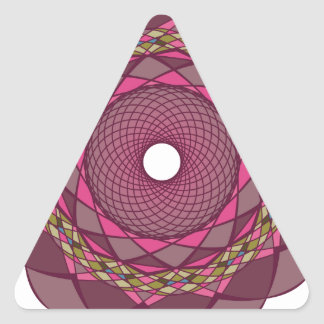 Ornamentos circulares pegatina triangular