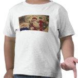 Ornamentos colgantes de GreetingSanta del navidad Camiseta