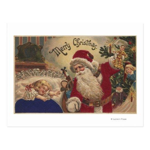 Ornamentos colgantes de GreetingSanta del navidad Postales
