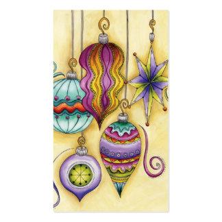 Ornamentos coloridos de cristal hermosos del tarjetas de visita