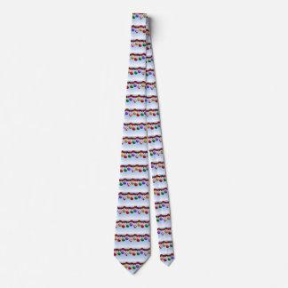 Ornamentos coloridos del navidad corbata