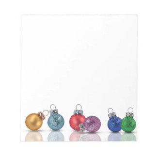 Ornamentos coloridos del navidad - libreta blocs