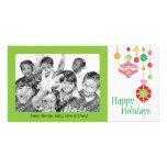Ornamentos coloridos lindos del navidad tarjetas personales