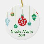 Ornamentos coloridos personalizados ornamento para arbol de navidad