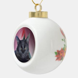 Ornamentos de cerámica del mascota de la bola adorno de cerámica en forma de bola