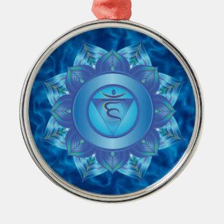 Ornamentos de Chakra de la garganta Adorno Navideño Redondo De Metal