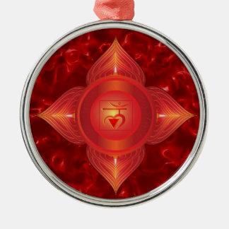 Ornamentos de Chakra de la raíz Adorno Navideño Redondo De Metal
