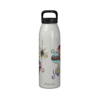 Ornamentos de cristal de lujo y elegantes del botella de agua