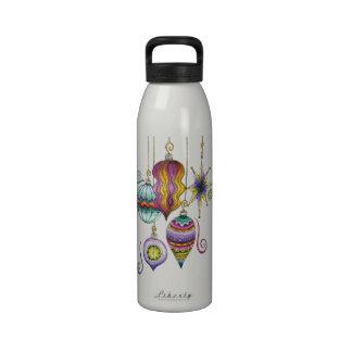 Ornamentos de cristal de lujo y elegantes del botellas de agua reutilizables