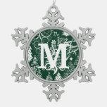Ornamentos de encargo de Navidad del copo de nieve