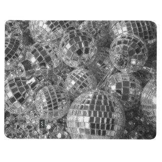 Ornamentos de la bola de discoteca cuadernos