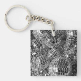 Ornamentos de la bola de discoteca llavero