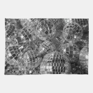 Ornamentos de la bola de discoteca toallas de cocina