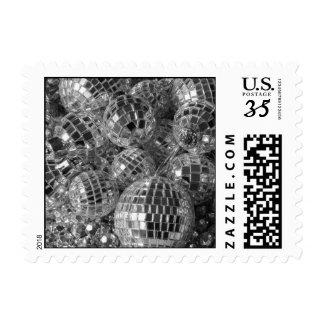 Ornamentos de la bola de discoteca - pequeños timbres postales