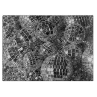 Ornamentos de la bola de discoteca tablas de cortar