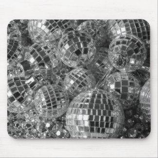Ornamentos de la bola de discoteca alfombrillas de ratón