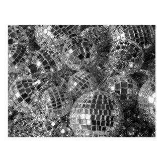 Ornamentos de la bola de discoteca postal