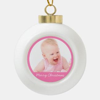 Ornamentos de la bola del navidad con el bebé adorno de cerámica en forma de bola