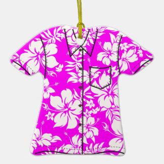 Ornamentos de la camisa de hawaiana de Pareau del Adorno De Cerámica En Forma De Playera