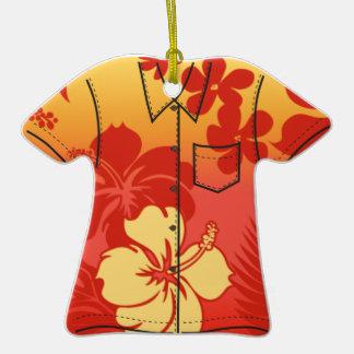 Ornamentos de la camisa de hawaiana del hibisco de ornato