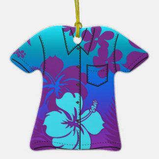 Ornamentos de la camisa de hawaiana del hibisco de ornamentos para reyes magos