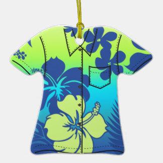 Ornamentos de la camisa de hawaiana del hibisco de ornamento de navidad