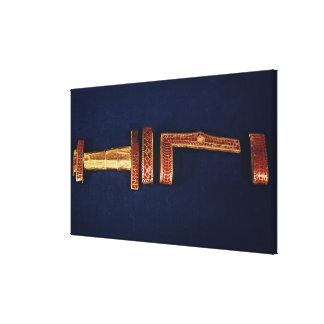 Ornamentos de la espada del tesoro de Childeric I  Impresion De Lienzo