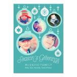 Ornamentos de la familia del navidad comunicados personales