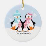 Ornamentos de la familia del pingüino ornatos