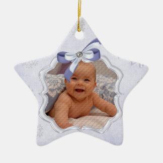 ornamentos de la foto del navidad del bebé de la e adorno para reyes