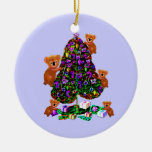 Ornamentos de la mañana de navidad de las koalas adorno navideño redondo de cerámica
