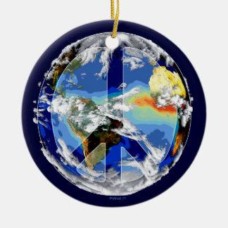 Ornamentos de la paz de mundo ornamento para arbol de navidad