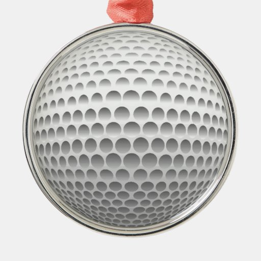 Ornamentos de la pelota de golf ornamentos de navidad