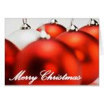 Ornamentos de las Felices Navidad Felicitacion